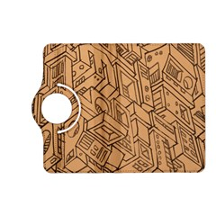 Mechanical Tech Pattern Kindle Fire HD (2013) Flip 360 Case