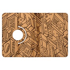 Mechanical Tech Pattern Kindle Fire HDX Flip 360 Case