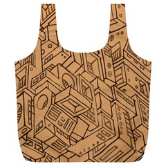 Mechanical Tech Pattern Full Print Recycle Bags (L)
