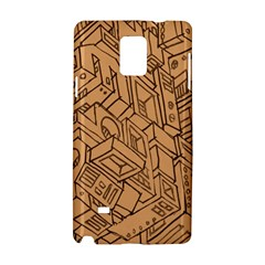 Mechanical Tech Pattern Samsung Galaxy Note 4 Hardshell Case