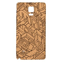 Mechanical Tech Pattern Galaxy Note 4 Back Case