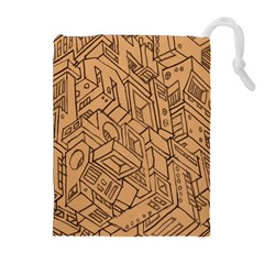 Mechanical Tech Pattern Drawstring Pouches (extra Large)