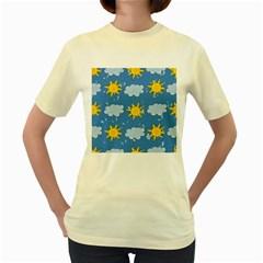 Sunshine Tech Blue Women s Yellow T-Shirt