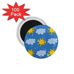 Sunshine Tech Blue 1 75  Magnets (100 Pack)