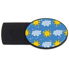 Sunshine Tech Blue USB Flash Drive Oval (4 GB)