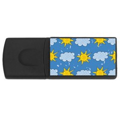 Sunshine Tech Blue USB Flash Drive Rectangular (4 GB)
