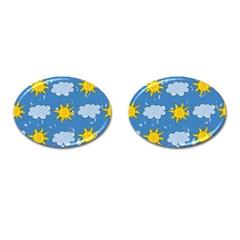 Sunshine Tech Blue Cufflinks (Oval)
