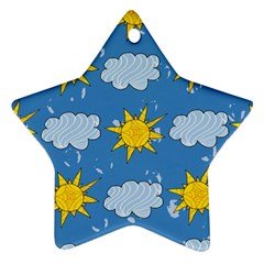 Sunshine Tech Blue Star Ornament (Two Sides)