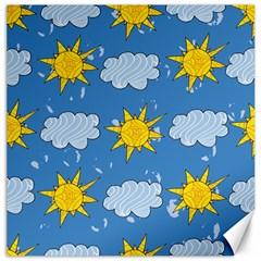 Sunshine Tech Blue Canvas 16  X 16