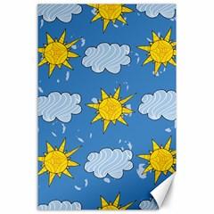 Sunshine Tech Blue Canvas 24  x 36
