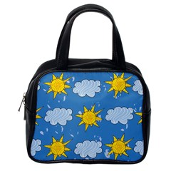 Sunshine Tech Blue Classic Handbags (one Side)