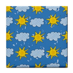 Sunshine Tech Blue Face Towel