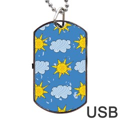 Sunshine Tech Blue Dog Tag USB Flash (One Side)