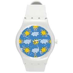 Sunshine Tech Blue Round Plastic Sport Watch (M)