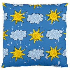 Sunshine Tech Blue Large Cushion Case (Two Sides)