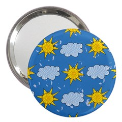 Sunshine Tech Blue 3  Handbag Mirrors