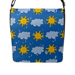 Sunshine Tech Blue Flap Messenger Bag (L)