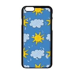 Sunshine Tech Blue Apple iPhone 6/6S Black Enamel Case