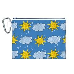 Sunshine Tech Blue Canvas Cosmetic Bag (l)