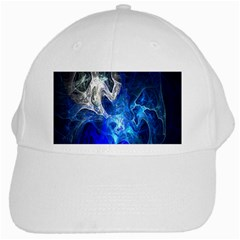 Ghost Fractal Texture Skull Ghostly White Blue Light Abstract White Cap