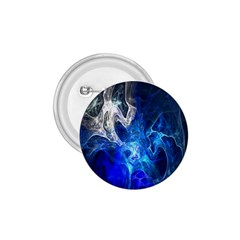 Ghost Fractal Texture Skull Ghostly White Blue Light Abstract 1.75  Buttons