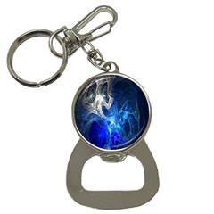 Ghost Fractal Texture Skull Ghostly White Blue Light Abstract Button Necklaces