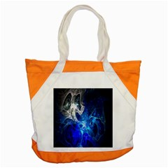 Ghost Fractal Texture Skull Ghostly White Blue Light Abstract Accent Tote Bag