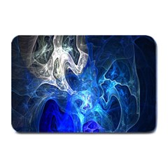 Ghost Fractal Texture Skull Ghostly White Blue Light Abstract Plate Mats