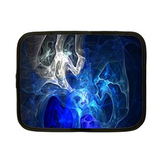Ghost Fractal Texture Skull Ghostly White Blue Light Abstract Netbook Case (small)