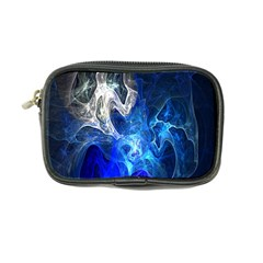 Ghost Fractal Texture Skull Ghostly White Blue Light Abstract Coin Purse