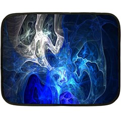 Ghost Fractal Texture Skull Ghostly White Blue Light Abstract Double Sided Fleece Blanket (Mini)