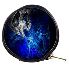 Ghost Fractal Texture Skull Ghostly White Blue Light Abstract Mini Makeup Bags