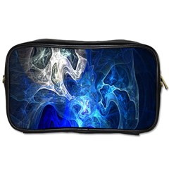 Ghost Fractal Texture Skull Ghostly White Blue Light Abstract Toiletries Bags