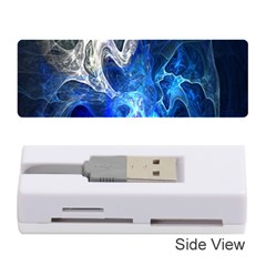 Ghost Fractal Texture Skull Ghostly White Blue Light Abstract Memory Card Reader (stick)
