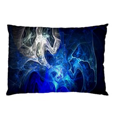 Ghost Fractal Texture Skull Ghostly White Blue Light Abstract Pillow Case (Two Sides)