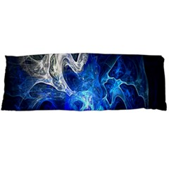 Ghost Fractal Texture Skull Ghostly White Blue Light Abstract Body Pillow Case Dakimakura (Two Sides)