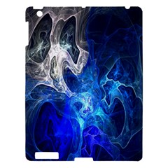 Ghost Fractal Texture Skull Ghostly White Blue Light Abstract Apple iPad 3/4 Hardshell Case