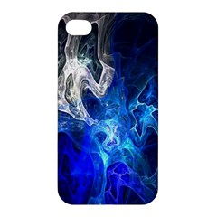 Ghost Fractal Texture Skull Ghostly White Blue Light Abstract Apple iPhone 4/4S Premium Hardshell Case