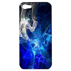 Ghost Fractal Texture Skull Ghostly White Blue Light Abstract Apple iPhone 5 Hardshell Case