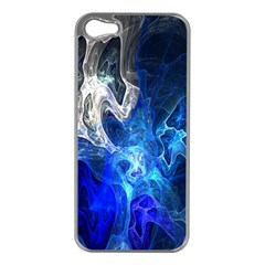 Ghost Fractal Texture Skull Ghostly White Blue Light Abstract Apple iPhone 5 Case (Silver)