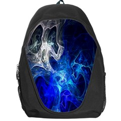 Ghost Fractal Texture Skull Ghostly White Blue Light Abstract Backpack Bag