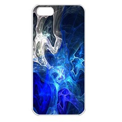 Ghost Fractal Texture Skull Ghostly White Blue Light Abstract Apple Iphone 5 Seamless Case (white)
