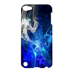 Ghost Fractal Texture Skull Ghostly White Blue Light Abstract Apple iPod Touch 5 Hardshell Case