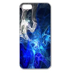 Ghost Fractal Texture Skull Ghostly White Blue Light Abstract Apple Seamless iPhone 5 Case (Clear)