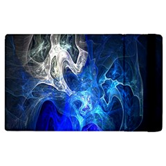 Ghost Fractal Texture Skull Ghostly White Blue Light Abstract Apple iPad 2 Flip Case