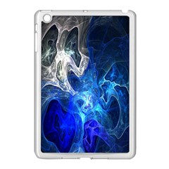 Ghost Fractal Texture Skull Ghostly White Blue Light Abstract Apple iPad Mini Case (White)