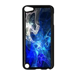 Ghost Fractal Texture Skull Ghostly White Blue Light Abstract Apple iPod Touch 5 Case (Black)