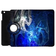 Ghost Fractal Texture Skull Ghostly White Blue Light Abstract Apple iPad Mini Flip 360 Case