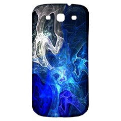 Ghost Fractal Texture Skull Ghostly White Blue Light Abstract Samsung Galaxy S3 S III Classic Hardshell Back Case