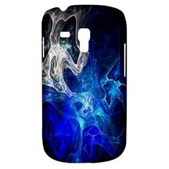Ghost Fractal Texture Skull Ghostly White Blue Light Abstract Galaxy S3 Mini
